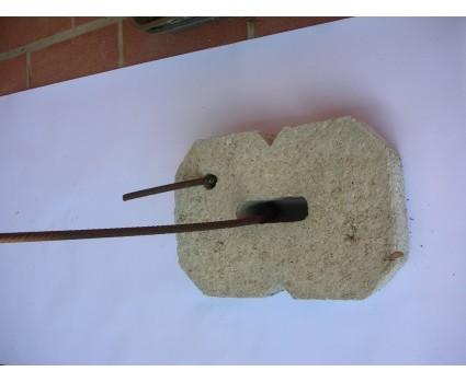 Blocco in cemento per tirante rotondo