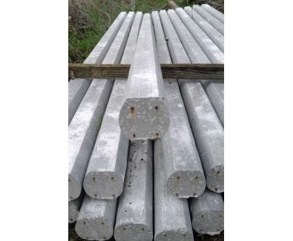 Palo in cemento precompresso 70x70 con 4 trecce