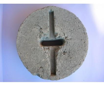 Blocco in cemento per tirante rotondo piccolo