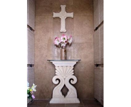 altarino per cappella cimiteriale e croce