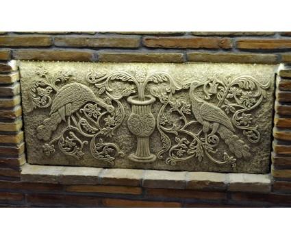 riproduzione su pietra di mosaico in stile bizantino, Basilica di S.Marco Venezia