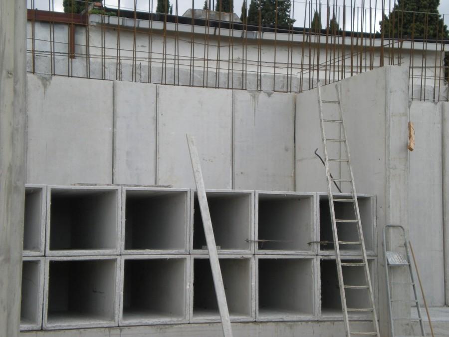 Realizzazione setti in c.a mediante setti strutturali prefabbricati tipo doppia lastra.